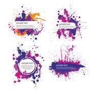 Color index blot Stock Illustration