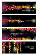 Color leaflet glamorous nights Stock Illustration
