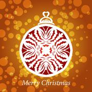 vector lacy snowflake christmas decoration - stock illustration