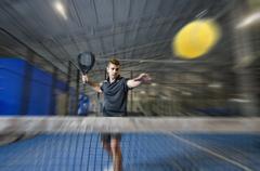Paddle tennis master Stock Photos