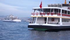 Passenger veneen Istanbulissa Turkissa (Pääkirjoitus) Arkistovideo