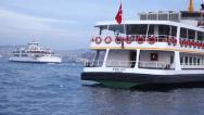 Stock Video Footage of Passenger boat in Istanbul Turkey (Editorial)