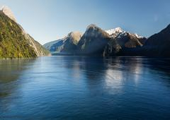Fjord of milford sound in new zealand Stock Photos