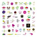 Stock Illustration of collection of vector logos for cosmetics beauty salons