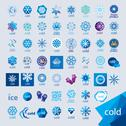 Stock Illustration of biggest collection of vector logos cold and frost