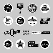 Collection of vector icons of quality assurance Stock Illustration