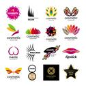 Stock Illustration of collection of vector logos for cosmetics and body care