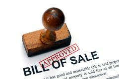 Bill of sale - approved Stock Photos