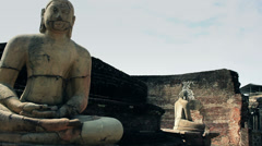 Sri Lanka Buddha statue Stock Footage