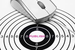 Publish target concept Stock Photos