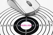 Stock Photo of publish target concept