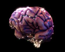Brain depiction Stock Photos