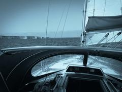 Stock Photo of Sailing yacht at sea