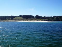 White sand beach at the Scillies Stock Photos
