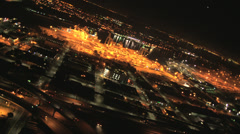 Aerial night view of Container Port San Francisco Bay, USA Stock Footage