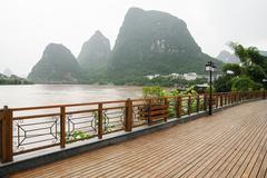 Yangshuo street near Li river - stock photo