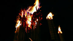 Farchie flames in Abruzzo, Italy. Stock Footage