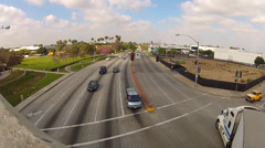 Generic Westbound Traffic On Telegraph Road- Santa Fe Springs CA Stock Footage