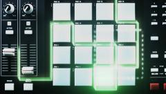 VJ Loop - Beat machine light streaks and illuminated drum pads Stock Footage