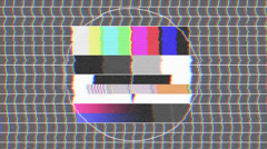 Test pattern TV, bad signal (29,97 fps) Stock Footage