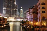 Stock Photo of view of palace hotel in dubai, uae