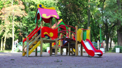 Children playing in the playground Stock Footage
