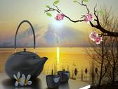Stock Illustration of tea pot with nice background for adv or others purpose use