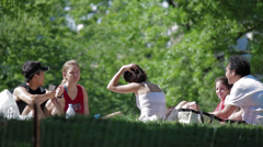 Central Park Picnic, New York City - stock footage