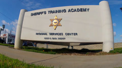 Los Angeles County Sheriff's Training Academy Sign Stock Footage