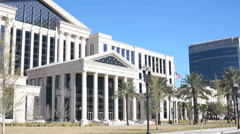 Jacksonville Courthouse - stock footage