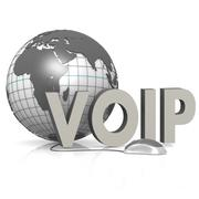 voip, globe and mouse - stock illustration