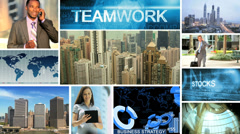CG montage Multi ethnic travel business communication strategy motion graphics Stock Footage