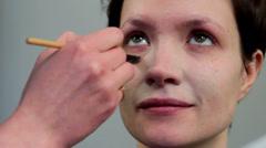 Makeup - stock footage
