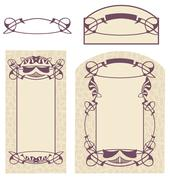 "Vector drawing of ""Art Nouveau"" style Stock Illustration"