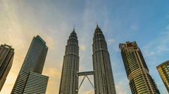 Petronas Twin Tower Kuala Lumpur Stock Footage