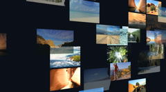 3D wall montage National Parks USA destinations outdoor travel lifestyle - stock footage