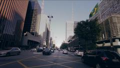 Car View in Street Traffic in Sao Paulo, Brazil Stock Footage