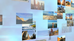 3D wall montage National Parks USA tourism vacation travel lifestyle - stock footage