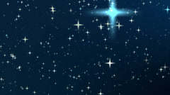 Night sky with star, Full HD Stock Footage