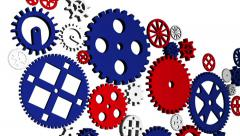 USA Country Economy Gears Stock Footage