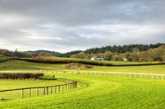 View of Cartmel Racecourse Stock Photos