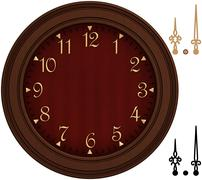 old fashioned clock with golden numbers - stock illustration