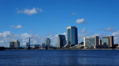 downtown Jacksonville FL timelapse - stock footage