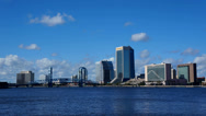 Stock Video Footage of downtown Jacksonville FL timelapse