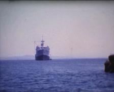 8MM GREECE  - Atalante ship - 1961 - amateur film 2 Stock Footage