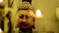 Pan shot of the statue of Buddha Stock Footage