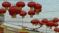 HD video of Mid-Autumn Festival lanterns at Chinatown, Singapore Stock Footage