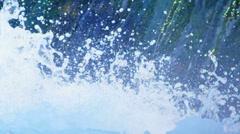 3D motion montage ocean plants nature scene icon Matterhorn - stock footage