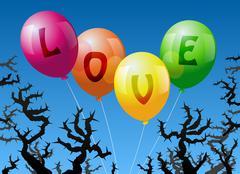 Balloons Love Stock Illustration