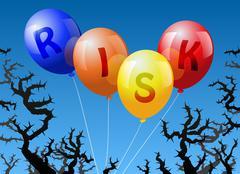 Balloons Risk - stock illustration